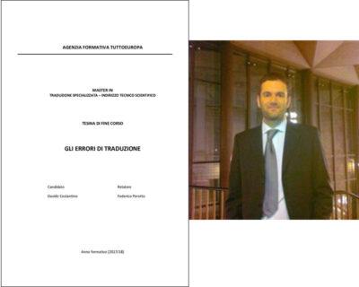 Gli errori di traduzione - Davide COSTANTINO