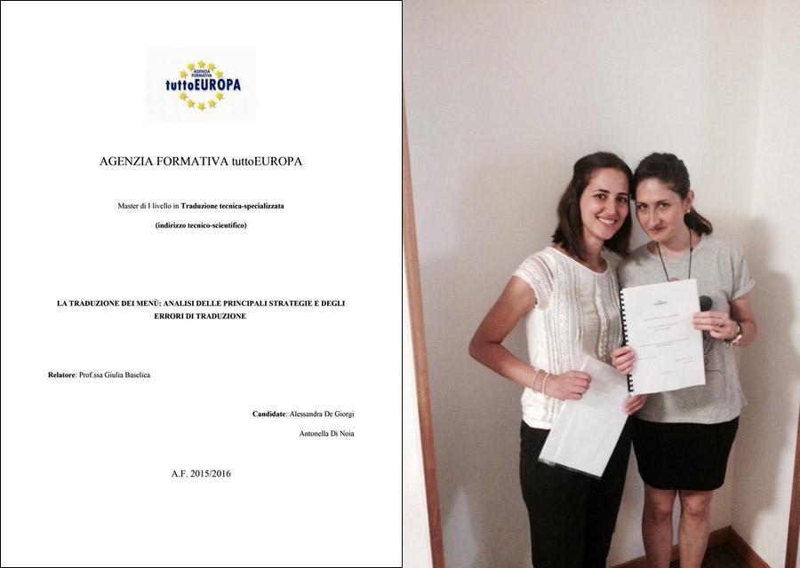 Gli errori di traduzione nei menù dei ristoranti - Alessandra De Giorgi e Antonella Di Noia