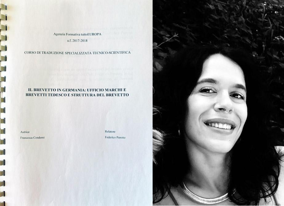 Francesca Condemi - Il brevetto in Germania: Ufficio marchi e brevetti tedesco e struttura del brevetto